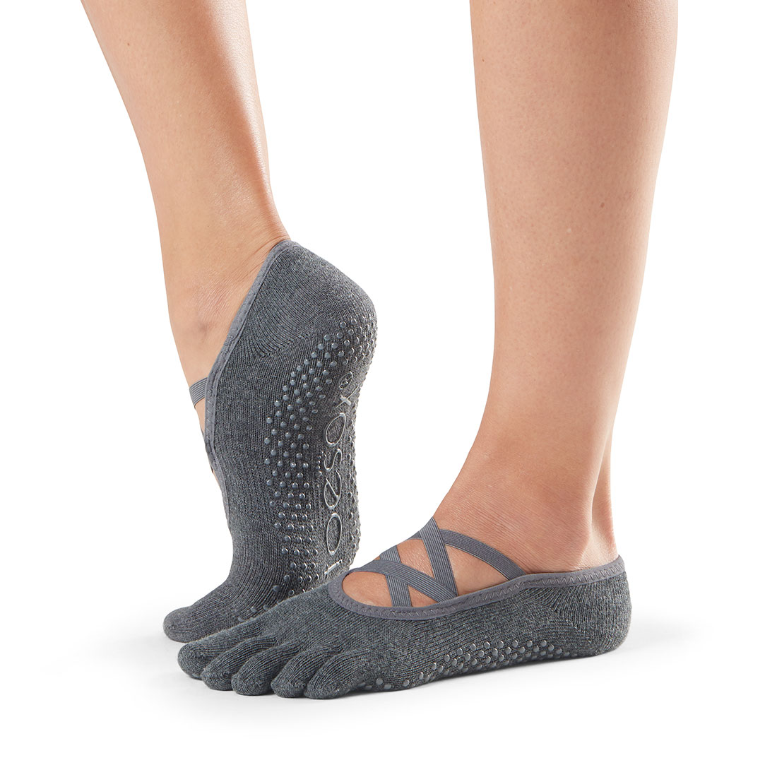 ToeSox Grip F/T Elle Charcoal Grey