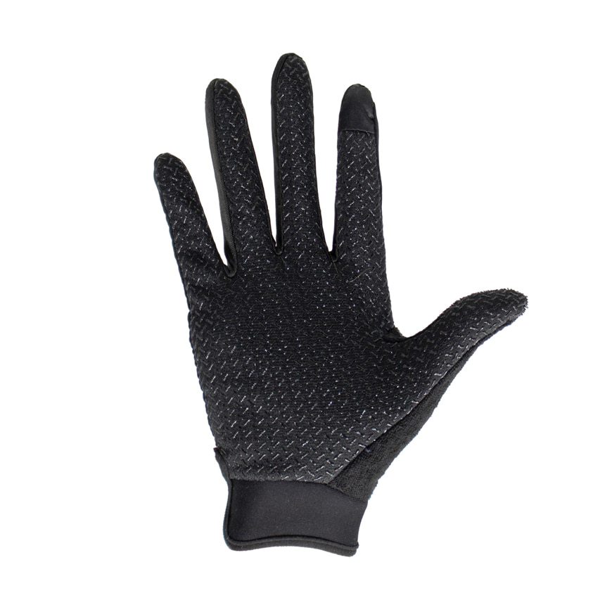 BASE33 Unisex Grip Full Gloves Black