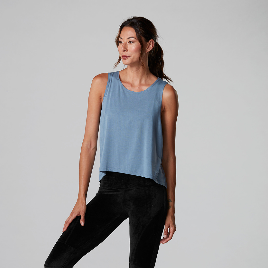 TaviNoir High-Low Tank Slate Blue