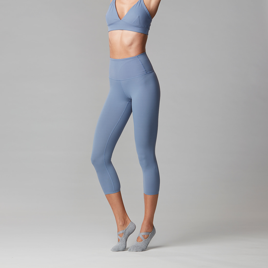 TaviNoir High Waisted Crop Slate Blue